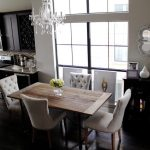 Home Updates: Restoration Hardware Curtains for the Kitchen & Dining Room Chandelier