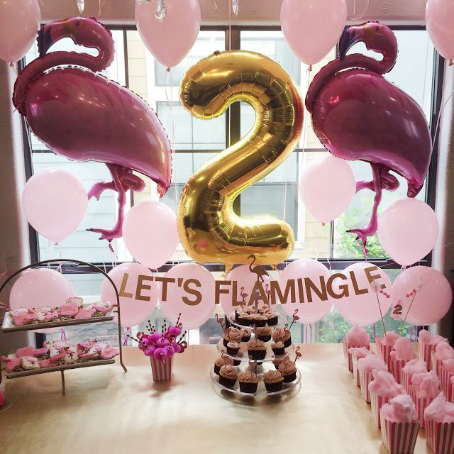 Veronika S Blushing 18 Weeks: Harper's Second Birthday Party: Let's Flamingle