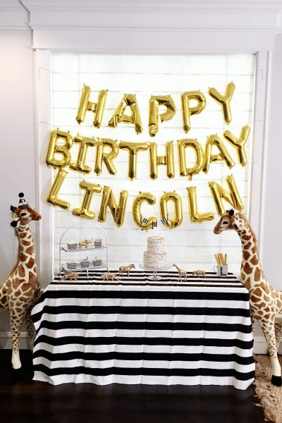 Lincoln is ONE! Safari-Themed First Birthday Party