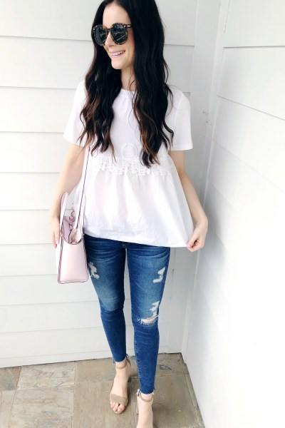 A Pretty White Tee for Spring