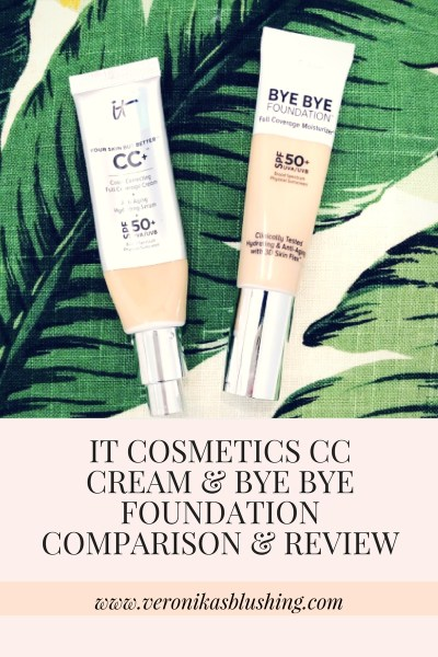 IT Cosmetics CC Cream and Bye Bye Foundation Review & Comparison