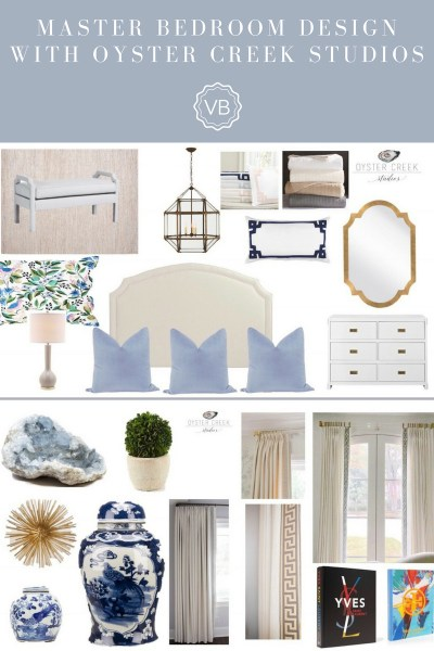 Master Bedroom Update and Design Boards with Oyster Creek Studios