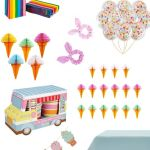 Harper's 6th Ice Cream Birthday Party Sources
