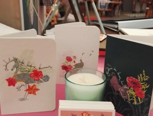 ©Véronique Milioni, Créatrice de papiers peints, tapisseries, décorations vitrages pour les besoins des lieux et professionnels de l'aménagement, Salon Alpes Home à Combloux-Megève - juillet 2017