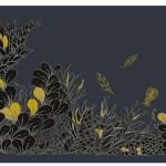 ©Véronique Milioni, Motif Cultiver son jardin Foncé, La Marque, créatrice de papiers-peints, tapisseries & décorations vitrages pour les besoins des architectes et décorateurs d'intérieurs, hôtels et restaurants haut de gamme, boutique de luxe, univers du zen et du développement personnel