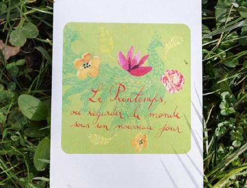 ©Véronique Milioni, Créatrice, Papeterie Carte Postale Le printemps