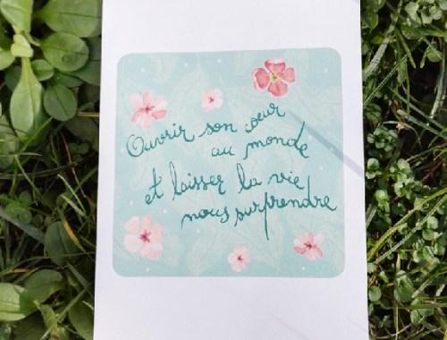 ©Véronique Milioni, Créatrice, Papeterie Carte Postale Ouvrir son cœur