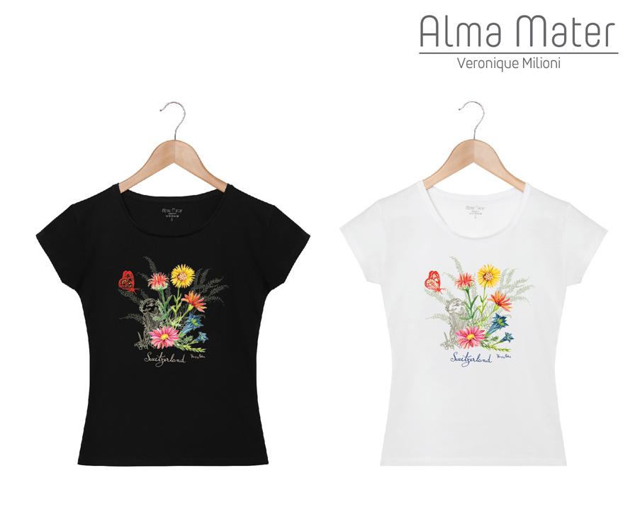 ©Véronique Milioni, Créatrice, Textiles en collaboration avec Alma Mater, Dessins fait-main Nature & Animaux, Switzerland