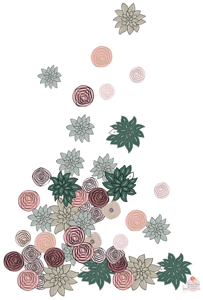 ©Véronique Milioni, Motif Fleurs à la Folie, La Marque, créatrice de décorations vitrages pour les besoins des architectes et décorateurs d'intérieurs, hôtels et restaurants haut de gamme, boutique de luxe, univers du zen et du développement personnel