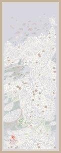 ©Véronique Milioni, Motif Prendre de la Hauteur - Gris, La Marque, créatrice de papiers-peints, décorations vitrages, tapisseries, textiles et papeterie pour les besoins des architectes et décorateurs d'intérieurs, hôtels et restaurants haut de gamme, boutique de luxe, univers du zen et du développement personnel