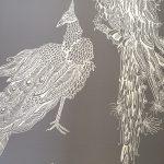 ©Véronique Milioni, La Marque, Réalisation en collaboration avec La Commune à Lyon 7e, habillage des murs avec interprétation de l'univers de la créatrice