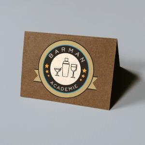 ©Véronique Milioni graphiste lyon, logo, charte graphique, barman academie