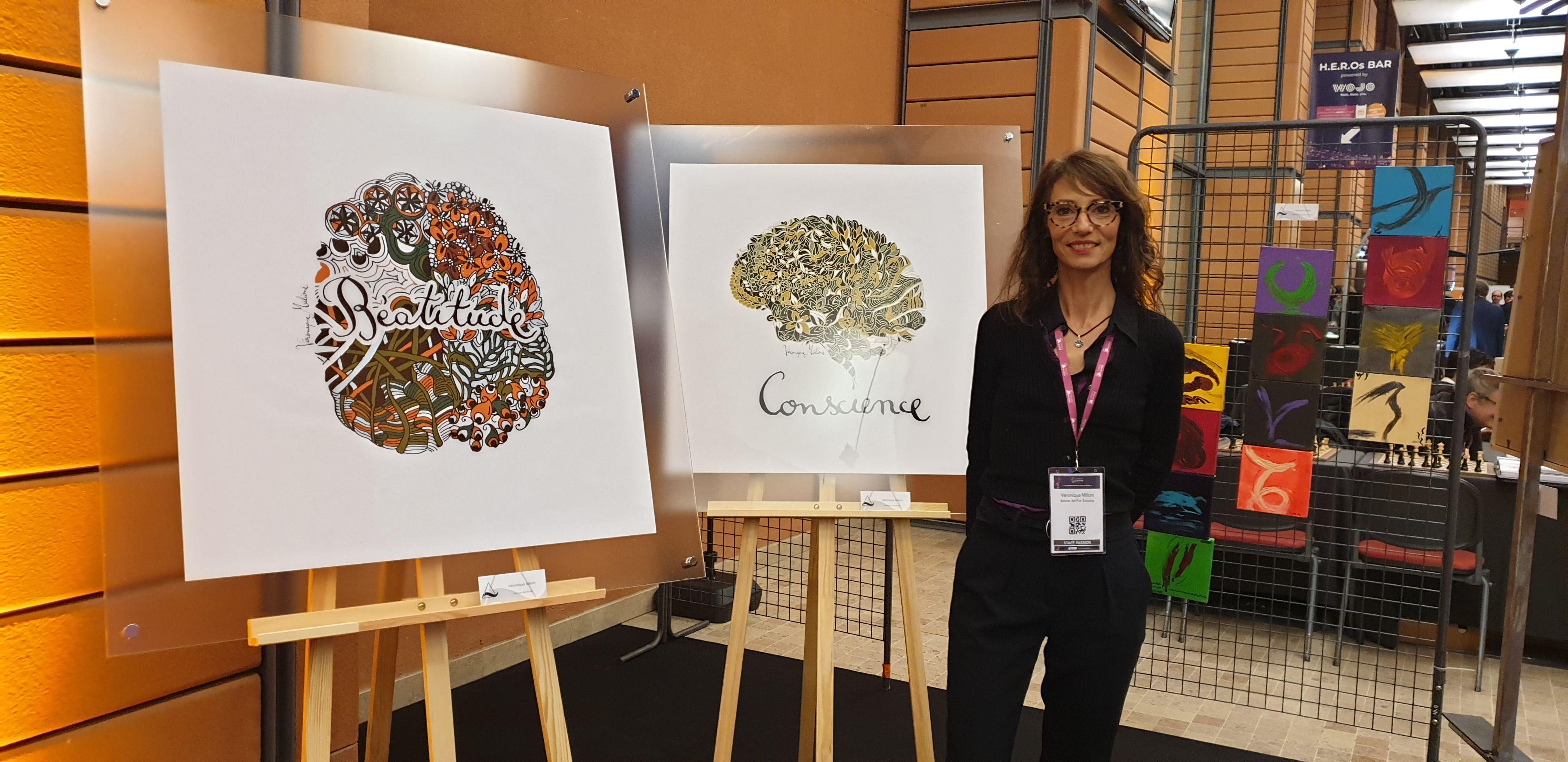 ©Véronique Milioni, exposition collection cerveau Art for Science, Congrès Entreprise du futur à Lyon