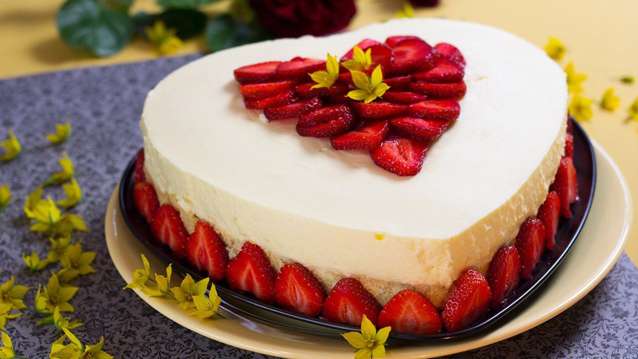 Kuchen ohne Backen ErdbeerKokosVERPOORTENTorte