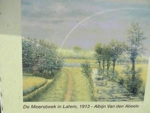 Binus schildert zijn geliefkoosde landschap.