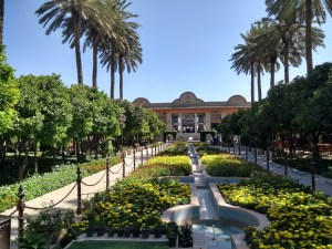 Narenjestan garden in Shiraz. A lot of these Persian gardens can be found in Iran.