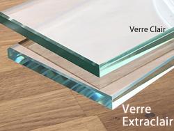 plaque de verre sur mesure