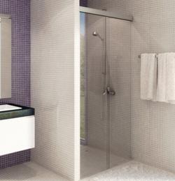porte coulissante pour douche en verre