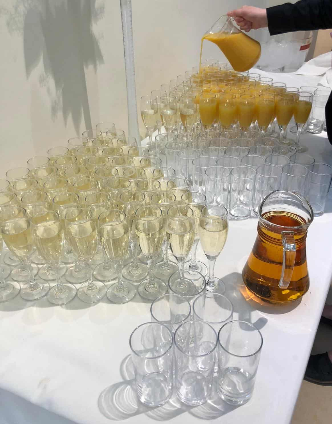 Drinks at launch event