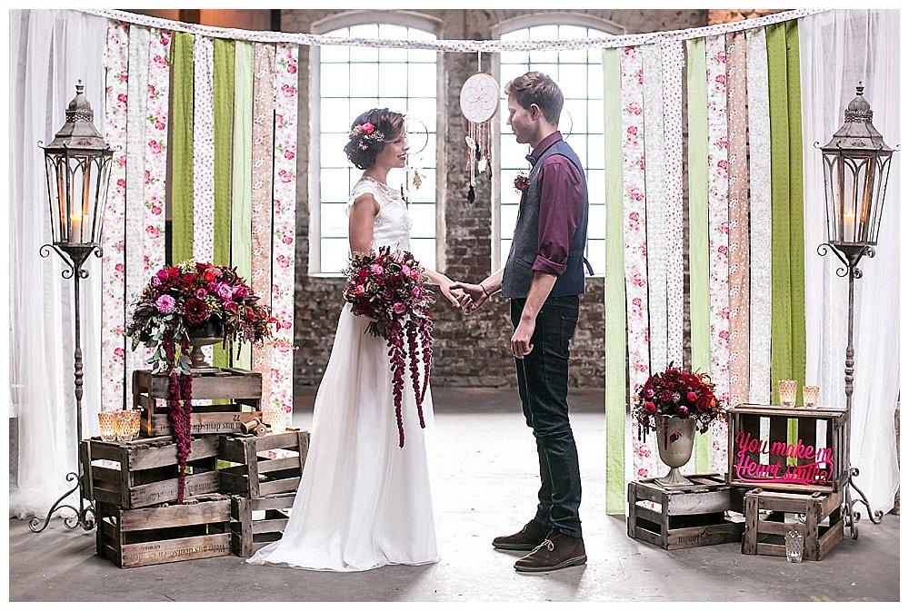 HochzeitsInspiration Freie Trauung im Boho Stil  Verrckt nach Hochzeit