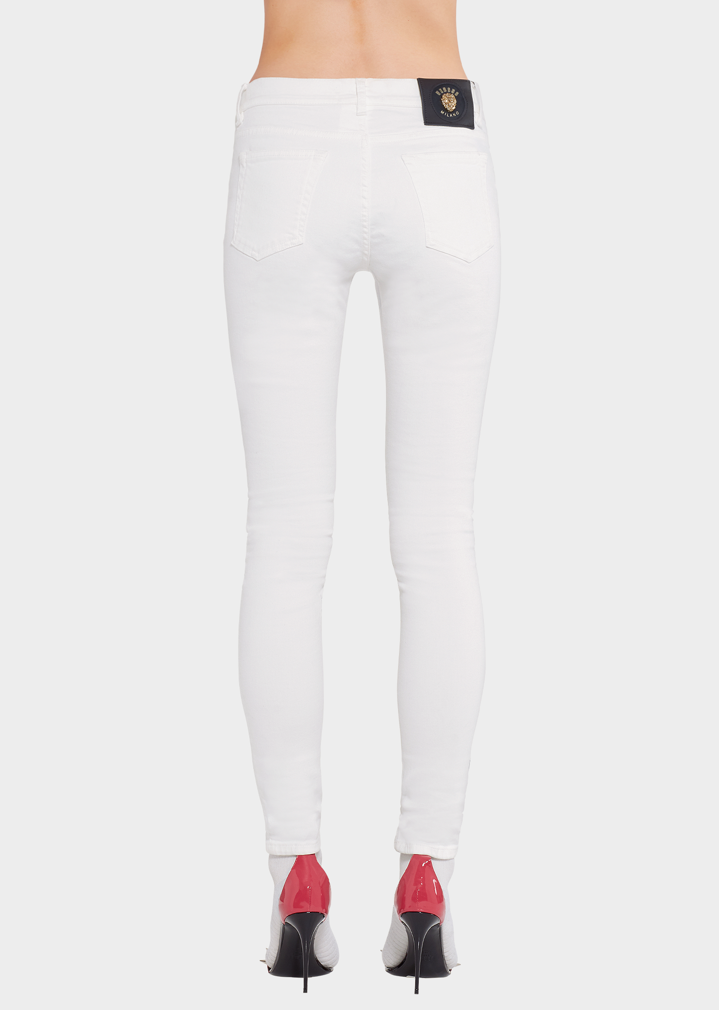 White skinny jeans versus versace pants  also for women us online store rh