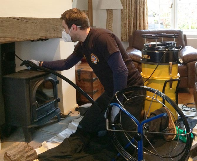 Versa Clean  Chimney  flue sweep and extraction cleaning services
