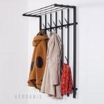 Wall Mounted Coat Rack With A Shelf Loft 90 Wall Wardrobe Versanis