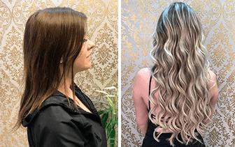 De cabelos moreno curto para loiro comprido, transformação maravilhosa!