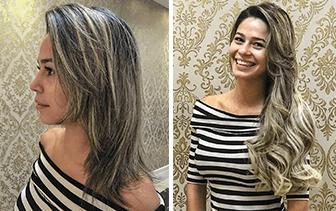 Na Versátil você pode ter o cabelo longo e volumoso como sempre sonhou.