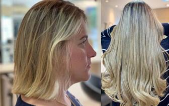 Loiro divo + mega hair