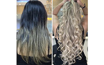 Mechas e mega hair natural