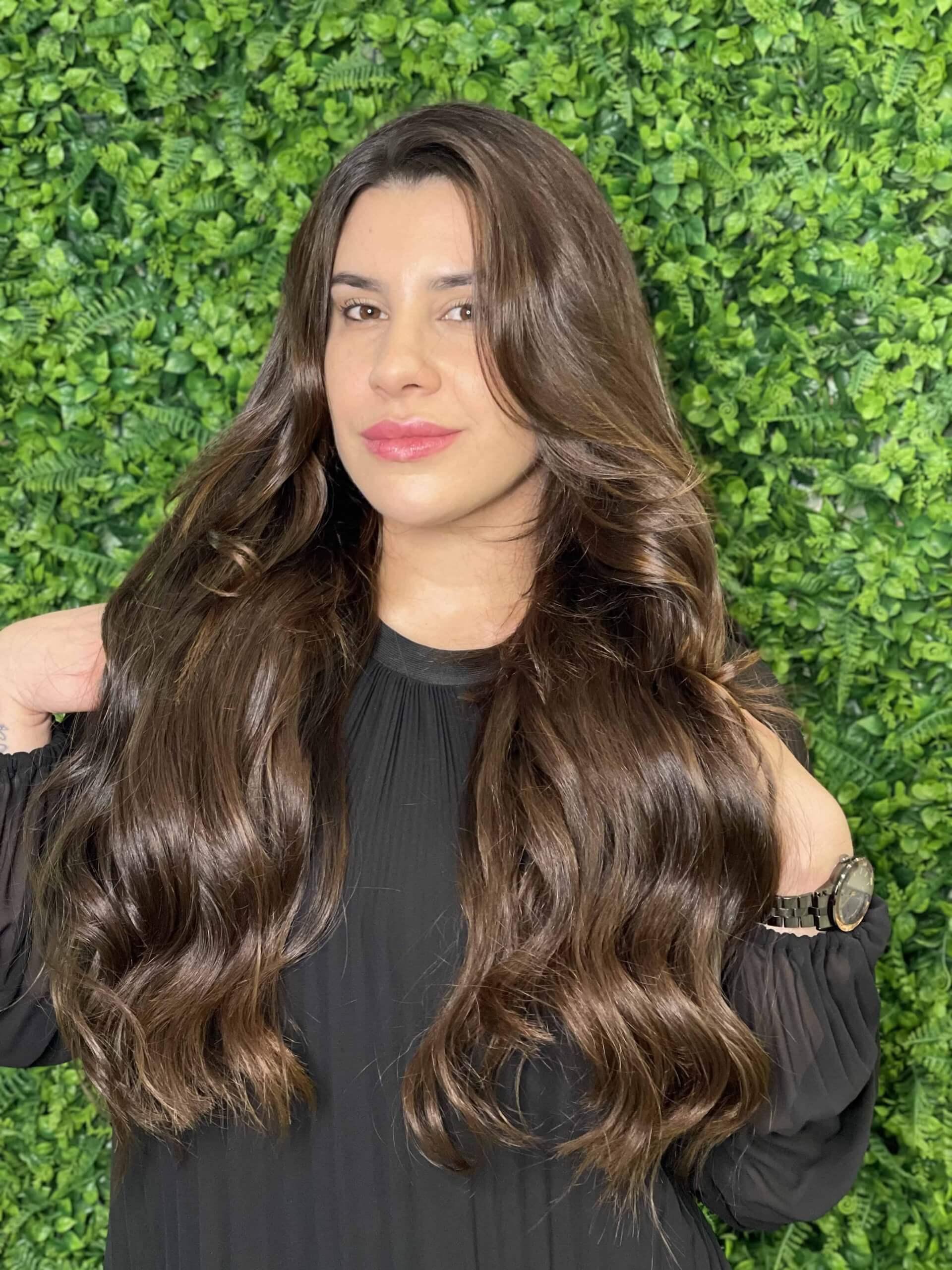 Mega Hair com brilho e volume