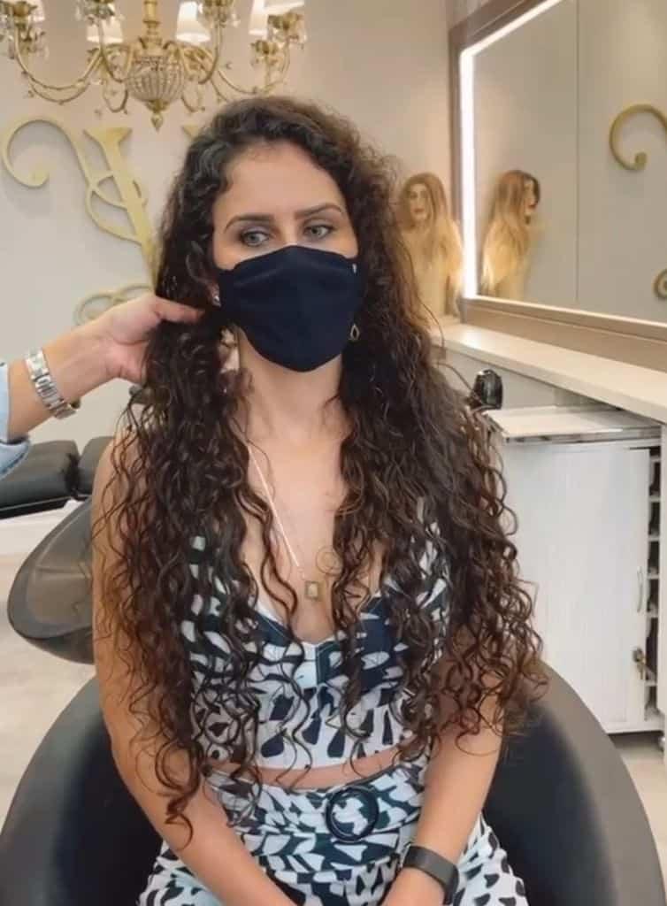Mega Hair em cabelo cacheado