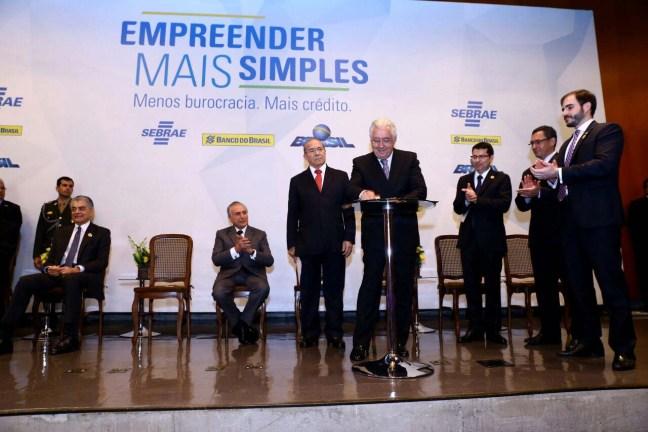 Cerimônia de lançamento do programa em Brasília. Foto: Assessoria Sebrae/Nacional