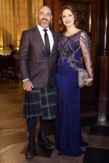 Chef Henrique Fogaça e a esposa Carine Ludvic