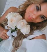 A noiva Lexa antes do casamento