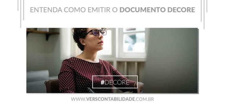 Como emitir o documento DECORE - site 390X230px