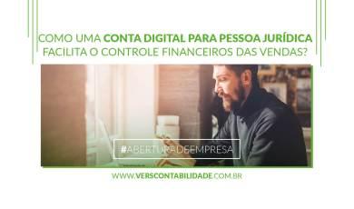 Como uma conta digital para pessoa jurídica facilita o controle financeiros das vendas - 390X230px