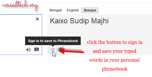 Save Important Words in Your Google Translator Phrasebook