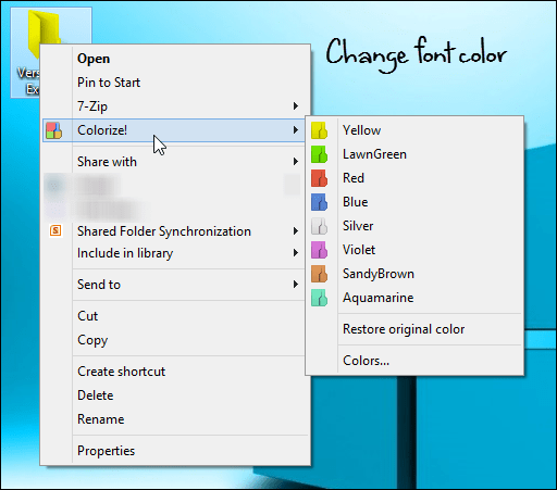 Change Folder Color from Right Click Context Menu