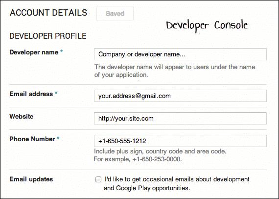 Developer COnsole