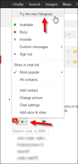 Enable New Google Hangouts