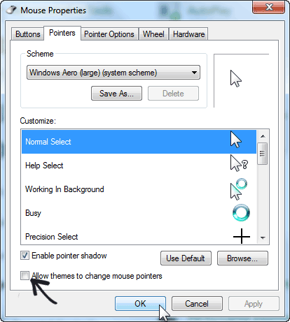 Change-mouse-pointers