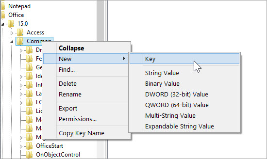 Disable Typing Animation of Office 2013