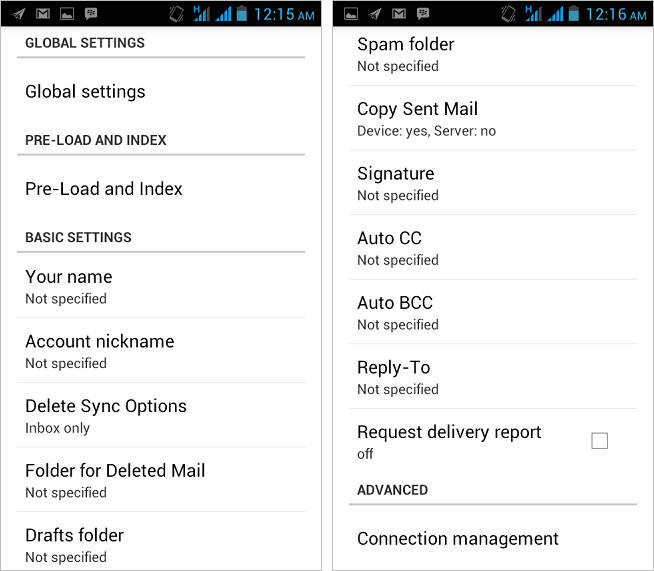 MailDroid Email Application