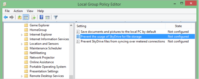 Disable SkyDrive Integration in Windows 8.1