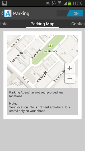 Agent-for-android-parking-section