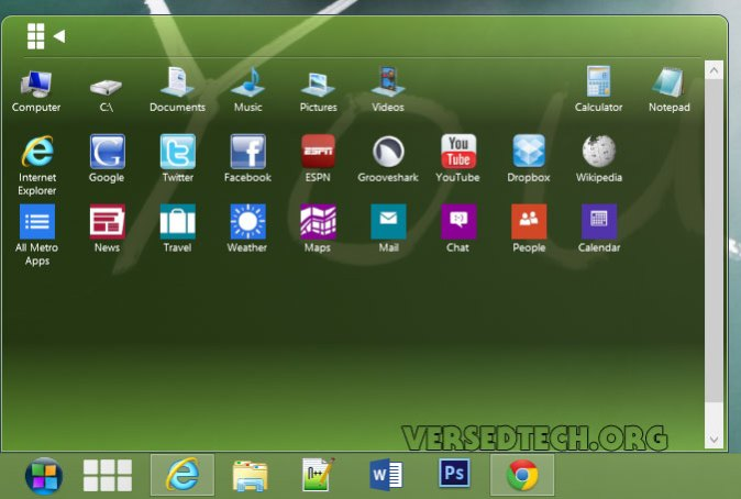 Get Windows 7 like Start Button in Windows 8