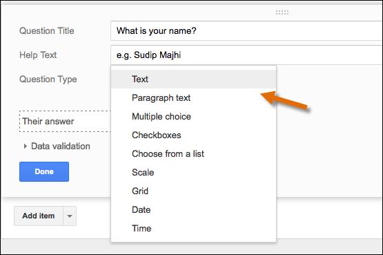 google-form-item-selection
