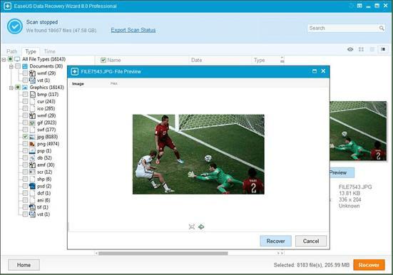 scan in easeus software